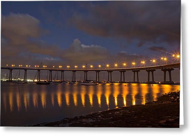 Recently Sold -  - Bay Bridge Greeting Cards - Coronado Bridge Greeting Card by Peter Tellone