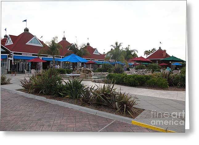 Coronado Ferry Landing Marketplace In Coronado California 5d24385 Greeting Card by Wingsdomain Art and Photography