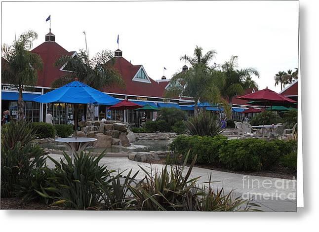 Coronado Ferry Landing Marketplace In Coronado California 5d24386 Greeting Card by Wingsdomain Art and Photography