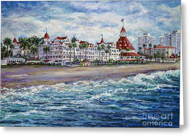 Recently Sold -  - Bay Bridge Greeting Cards - Coronado Shores Greeting Card by Sue Tushingham McNary