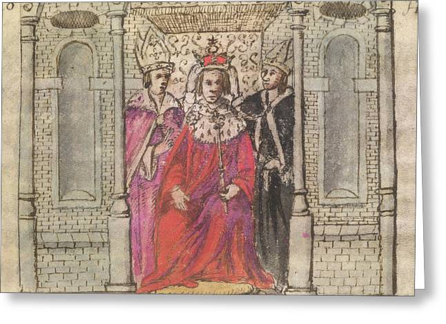Coronation Of Henry I Greeting Card by British Library