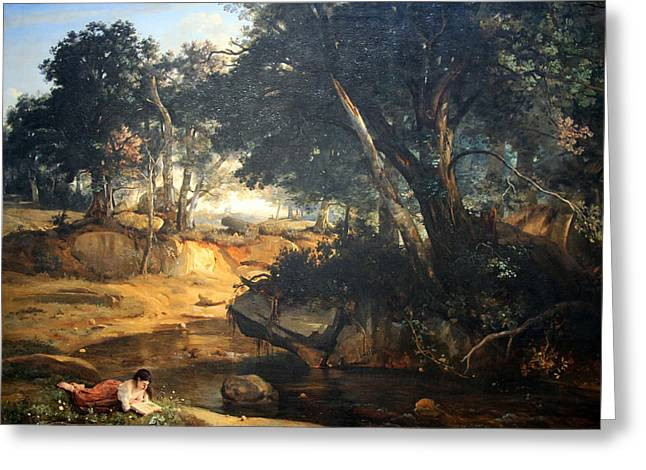 Fontainebleau Forest Greeting Cards - Corots Forest Of Fontainebleau Greeting Card by Cora Wandel
