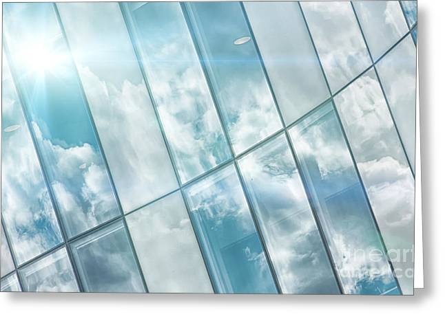 Corporate Flare Reflection Greeting Card by Antony McAulay