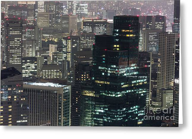 Roppongi District Greeting Cards - Corporate Tokyo Greeting Card by Didier Marti