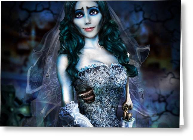 Tim Burton Greeting Cards - Corpse Bride Greeting Card by Alessandro Della Pietra