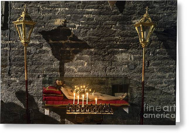 Votive Candles Greeting Cards - Corpus Christi Greeting Card by John Greim