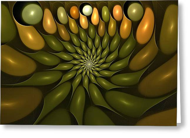 Effervescence Digital Art Greeting Cards - Corpuscle Vortex Greeting Card by Doug Morgan