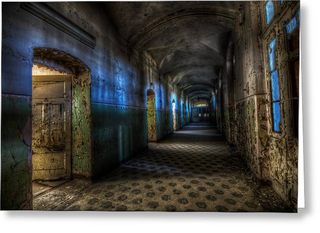 Defects Greeting Cards - Corridor of darkness  Greeting Card by Nathan Wright