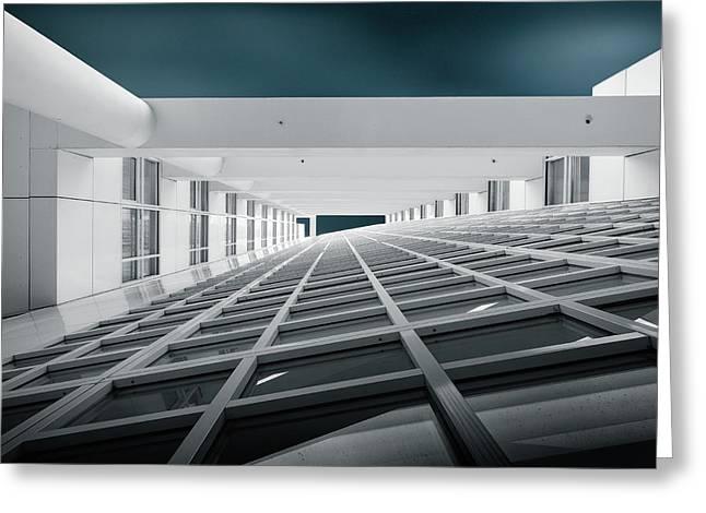 Corridors Of Power Greeting Card by Michiel Hageman