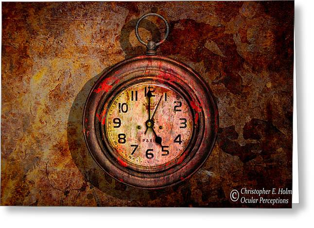 Corroded Time Greeting Card by Christopher Holmes