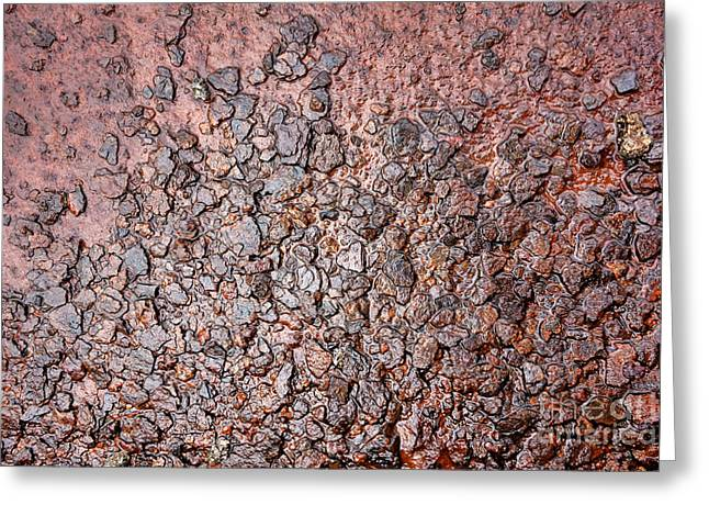 Soaked Greeting Cards - Corrosion Greeting Card by Olivier Le Queinec