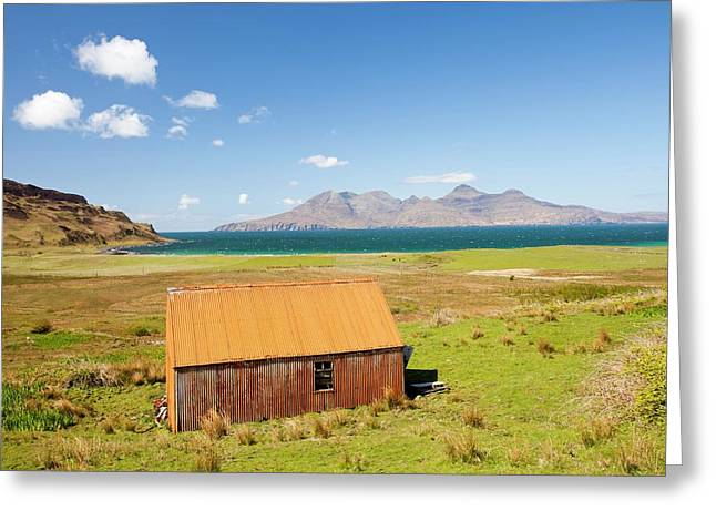 Corrugated Iron Barn At Cleadale Greeting Card by Ashley Cooper