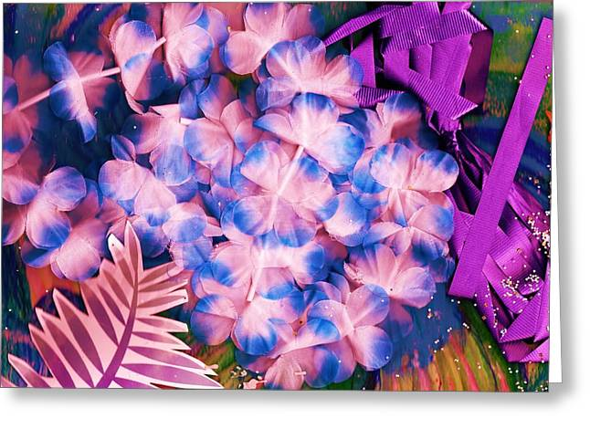 Corsage Collage Montage Greeting Card by Anne-Elizabeth Whiteway