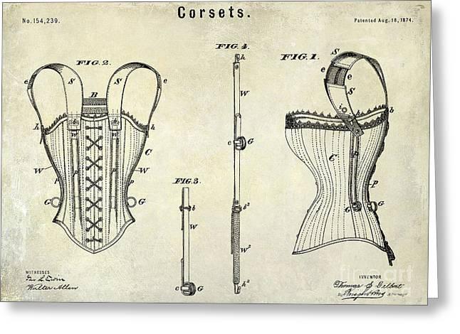 Corsets Patent 1874 Greeting Card by Jon Neidert
