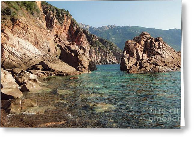 Corsica Gulf Of Porto  Greeting Card by Magda Lates