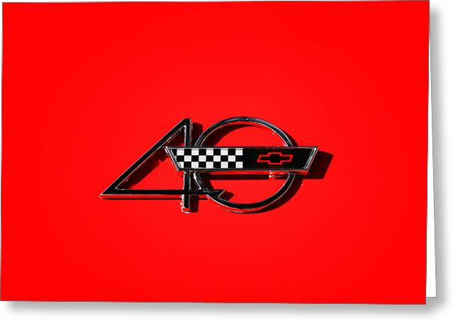 Aotearoa Greeting Cards - Corvette 40 Greeting Card by Phil