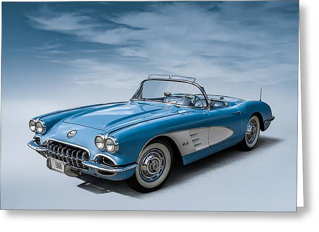 Corvette Blues Greeting Card by Douglas Pittman