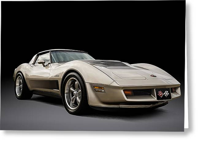 Classic Digital Greeting Cards - Corvette C3 Greeting Card by Douglas Pittman