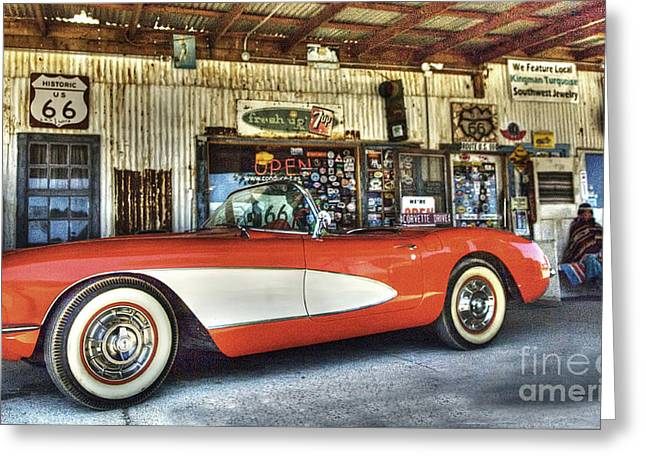 Hackberry Greeting Cards - Corvette Dreams Greeting Card by Bob Christopher