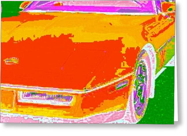 Etc. Digital Art Greeting Cards - Corvette Dreams Greeting Card by James Eye