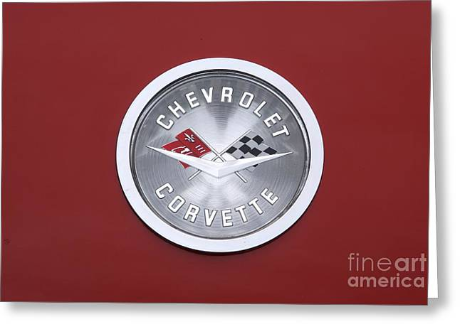 Corvette Emblem Greeting Card by Neil Zimmerman