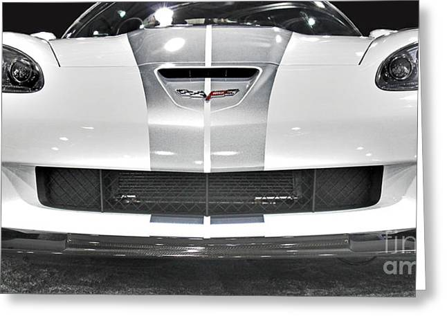 Modern Photographs Greeting Cards - Corvette  Greeting Card by Tom Gari Gallery-Three-Photography