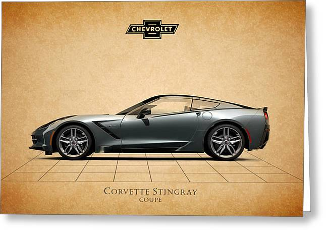 Stingrays Greeting Cards - Corvette Stingray Coupe Greeting Card by Mark Rogan