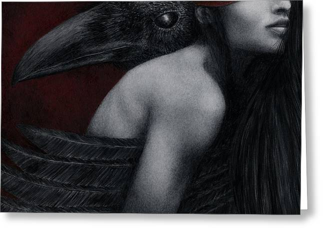 Figurative Greeting Cards - Corvidae Greeting Card by Pat Erickson