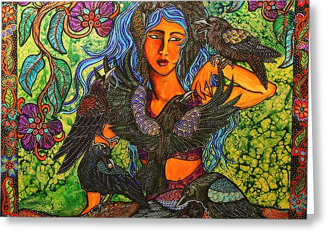 Cole Greeting Cards - Corvidas Garden Greeting Card by Melissa Cole