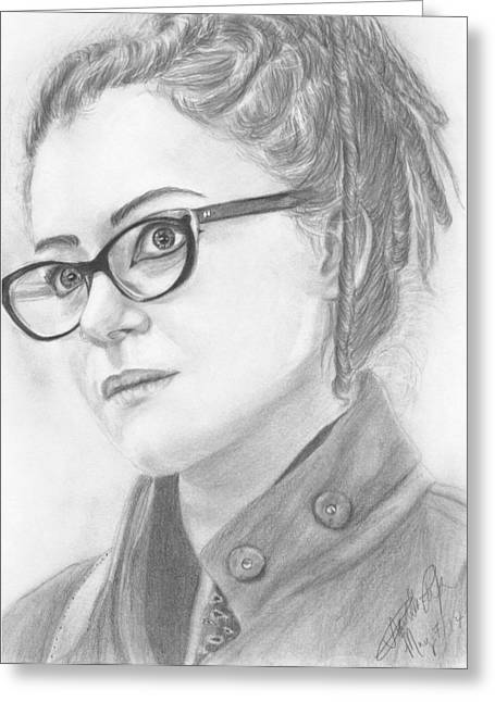 Photorealism Greeting Cards - Cosima Niehaus Greeting Card by Annabelle Pickering