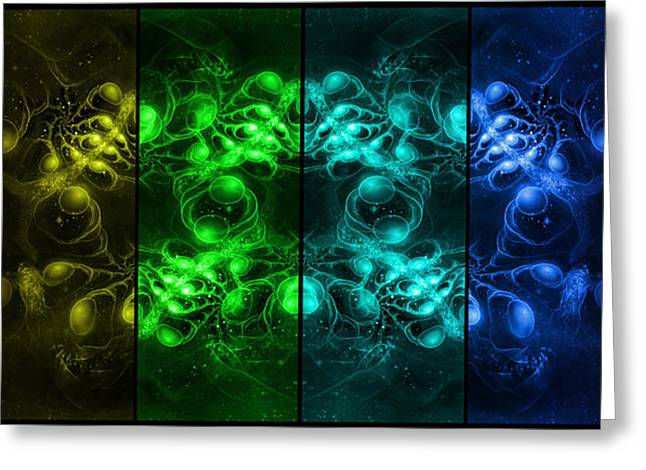 Fractal Art Greeting Cards - Cosmic Alien Eyes Pride Greeting Card by Shawn Dall