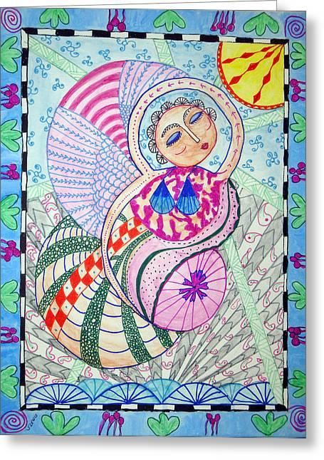 Mermaid Greeting Cards - Cosmic Bliss Greeting Card by Sandra Lewis