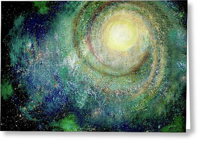 Divine Pastels Greeting Cards - Cosmic Breath Greeting Card by NARI - Mother Earth Spirit