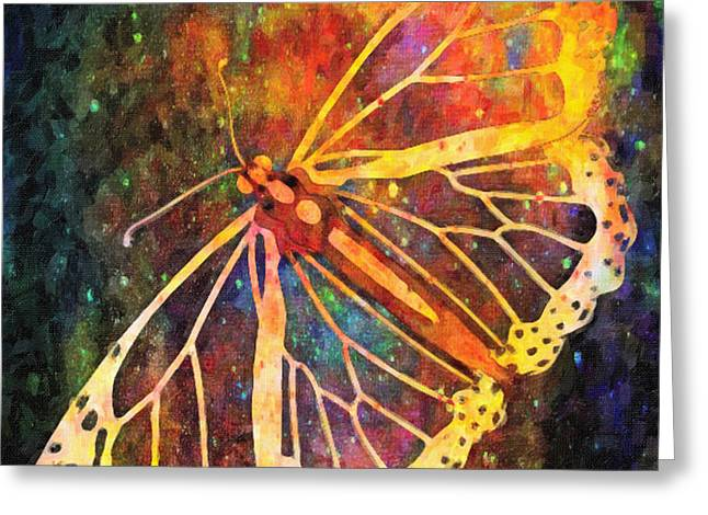 Creative Manipulation Digital Greeting Cards - Cosmic Butterfly Greeting Card by Kenny Francis