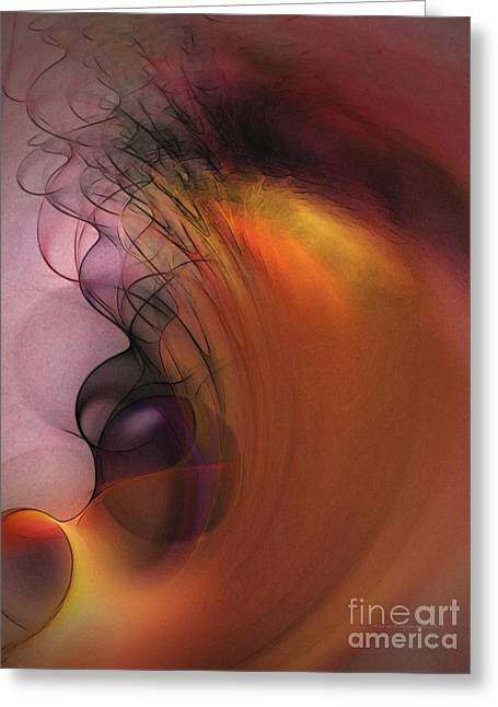 Purple Abstract Greeting Cards - Cosmic Greeting Card by Karin Kuhlmann