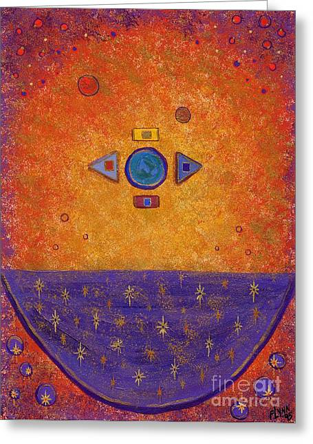 Planetary System Paintings Greeting Cards - Cosmic Cauldron Greeting Card by Tharsis  Artworks