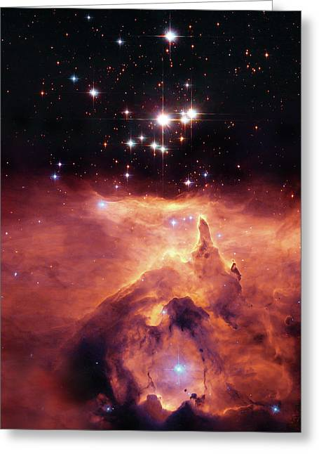 Space Photographs Greeting Cards - Cosmic Cave Greeting Card by The  Vault - Jennifer Rondinelli Reilly