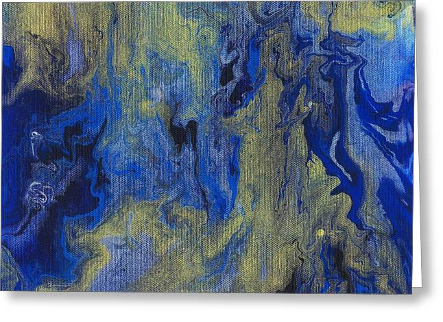 Morphing Greeting Cards - Cosmic Coalescence Greeting Card by Maxwell Hanson