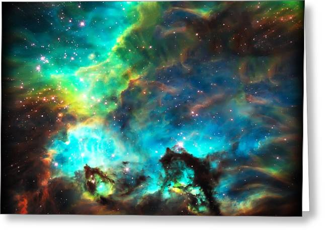 The Cosmos Greeting Cards - Cosmic Cradle 1 Star Cluster NGC 2074 Greeting Card by The  Vault - Jennifer Rondinelli Reilly