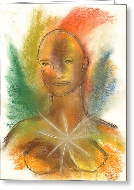 Divine Pastels Greeting Cards - Cosmic Feminine Greeting Card by Roger Hanson
