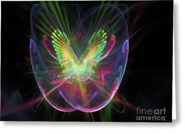 Abstract Butterfly Prints Greeting Cards - Cosmic Flight Greeting Card by Peter R Nicholls
