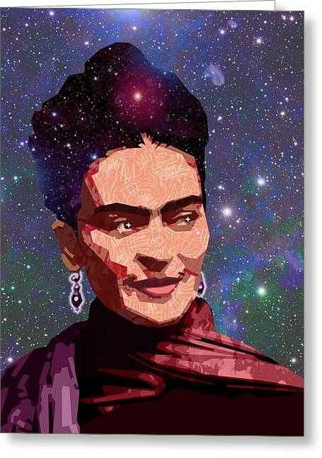 Mexican Artists Greeting Cards - Cosmic Frida Greeting Card by Douglas Simonson