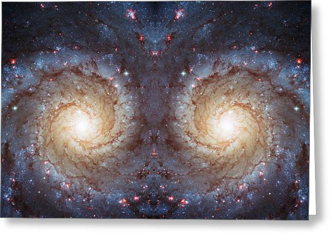 Cosmic Galaxy Reflection Greeting Card by The  Vault - Jennifer Rondinelli Reilly