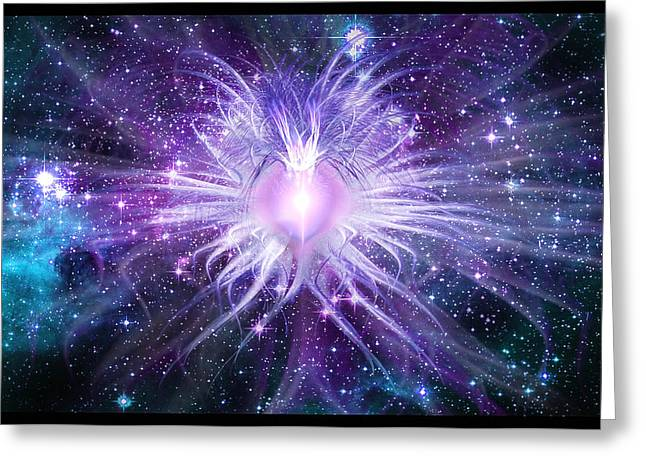 Shawn Dall Greeting Cards - Cosmic Heart of the Universe Greeting Card by Shawn Dall