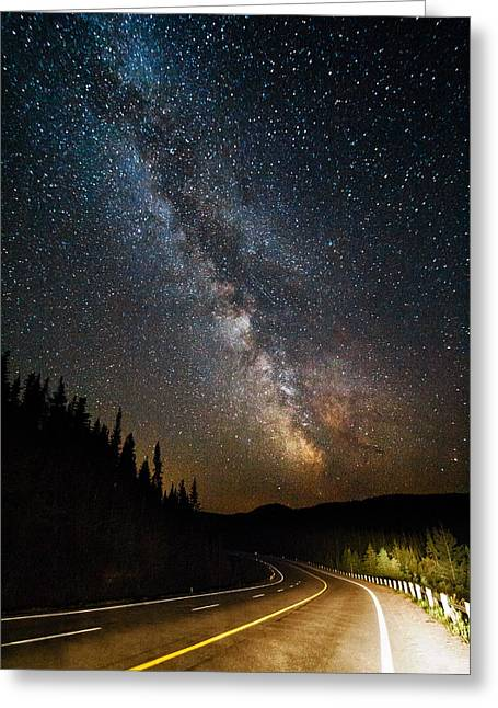 Cosmic Highway Greeting Card by Matt Molloy