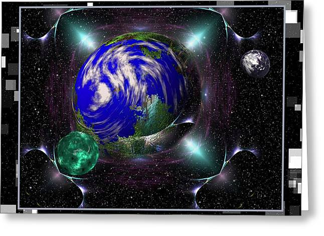 The Final Frontier Greeting Cards - Cosmic Jewels Greeting Card by Mario Carini
