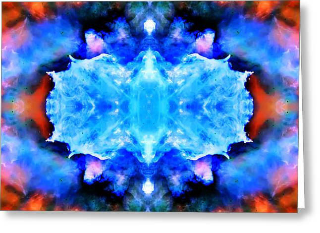 Cosmic Kaleidoscope 1 Greeting Card by The  Vault - Jennifer Rondinelli Reilly