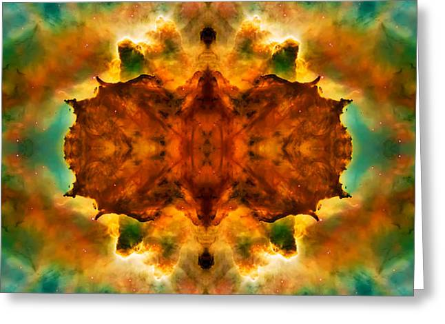 Cosmic Kaleidoscope 2  Greeting Card by Jennifer Rondinelli Reilly - Fine Art Photography