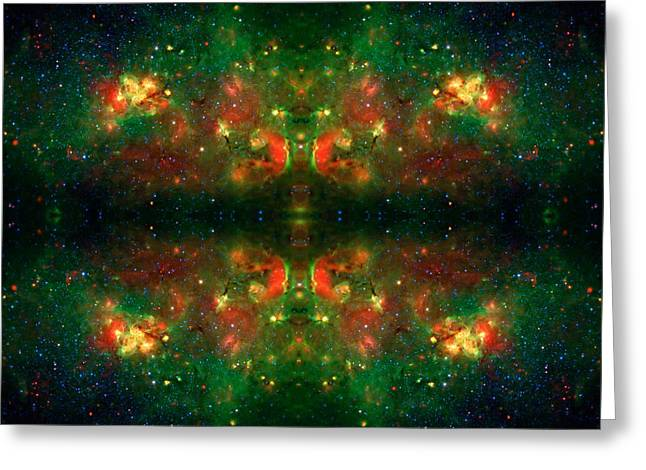 Constellations Greeting Cards - Cosmic Kaleidoscope 3 Greeting Card by The  Vault - Jennifer Rondinelli Reilly