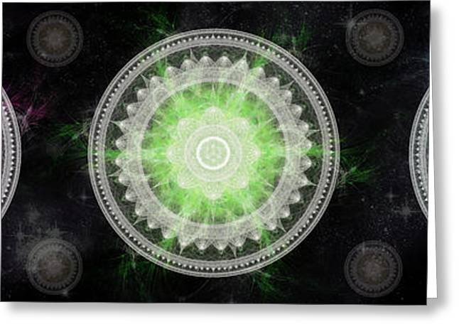 Fractal Art Greeting Cards - Cosmic Medallians RGB 1 Greeting Card by Shawn Dall